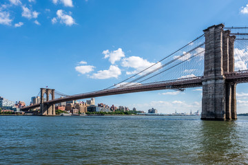 The Brooklyn Bridge Crossing From Manhattan Over the East River Into Brooklyn