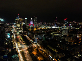 City panorama in the night