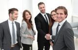 Business Partner Shake Hands on meetinig