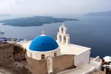 Church in Thira town on the island of Santorini, Greece