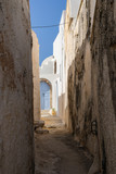 Houses in Emporio on the island of Santorini, Greece © Alexander