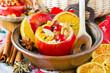 Leinwandbild Motiv Bratapfel Baked apple