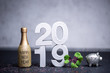 Leinwanddruck Bild - Silvester Neujahr 2019