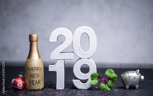 Leinwanddruck Bild 2019 Card