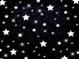 Белые звёзды на чёрном фоне © Евгения