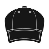 Vector illustration of headgear and cap icon. Collection of headgear and accessory stock vector illustration.