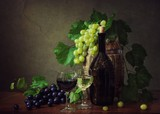 Still life with grapes and wine - 234633846