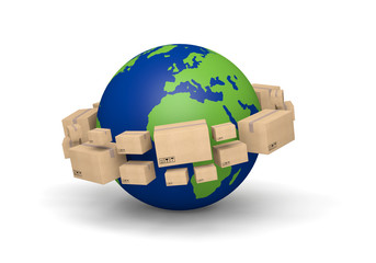 planète terre concept d'expédition global
