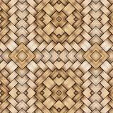 Weaved wood background, 3d illustration.