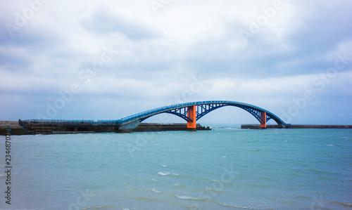 fototapeta na ścianę Bridge under river