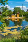 The Holy Spring of the Great Martyr Paraskeva Pyatnitsa on the bank of a small pond.
