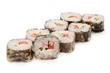 Japanese rolls, sushi on a white background