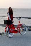 Mit dem Fahrrad zum Sonnenuntergang auf der Nordseeinsel Baltrum