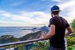 Quadro Homme voyageur à Rio de Janeiro au Brésil