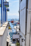 Sea view from Chora old town in Naxos, Greece - 234750675