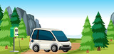 Electric car charge in nature - 234776080
