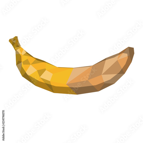 Isolated geometric banana. Low Poly. Vector illustration design - 234796078