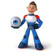 Super modern superhero - 3D Illustration - 234835097