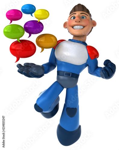 Super modern superhero - 3D Illustration - 234835247