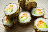 Hot Roll Salmon Japanese Sushi © Al