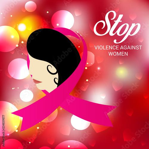 Leinwandbild Motiv Stop Violence Against Women.