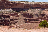 The very scary Shafer Trail in Canyonlands USA