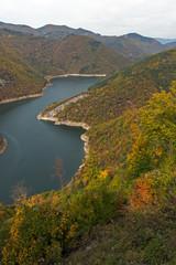 Amazing Autumn view of Tsankov kamak Reservoir, Smolyan Region, Bulgaria © Stoyan Haytov