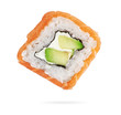 uramaki roll philadelphia isolated on white