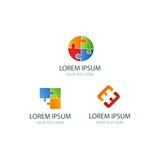 PEOPLE PUZZLE logo design vector