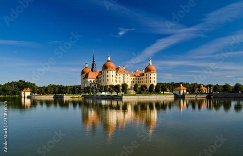 Leinwandbild Motiv Schloss Moritzburg bei Dresden , Sachsen, Deutschland, Europa