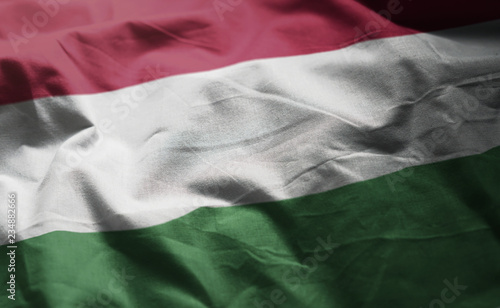 mata magnetyczna Hungary Flag Rumpled Close Up