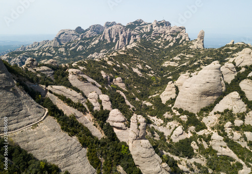 View from drone on Montserrat, Spain