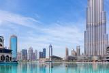 DUBAI, UAE - MARCH 29, 2017: The fountain in front of Burj Khalifa. - 234900424