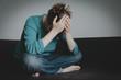 stressed sad woman, despair and depression, sorrow