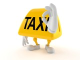 Taxi character with ok gesture - 234914008