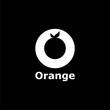 Organic logo. Orange logo. Orange icon on dark background - 234936659