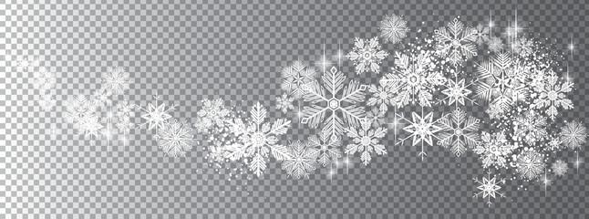 Transparent snow wave template