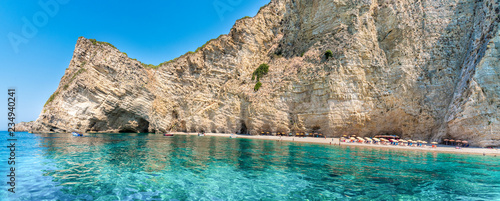 Wid beach Paradise on Corfu island, Ionian sea coast, Greece - 234940241