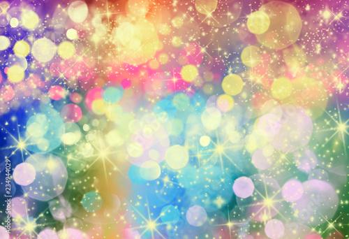 fondo abstracto de luces de colores desenfocadas © kesipun