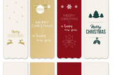 Sammlung unterschiedlicher Lesezeichen mit Grüßen zu Weihnachten und Neujahr