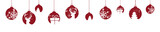Weihnachten Christbaumkugel Banner rot