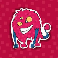 Unusual cartoon character monster