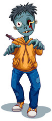 A zombie character on white background © blueringmedia