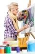 Female Painter Painting - 235021053