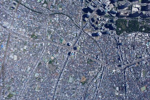 中野坂上駅上空/真俯瞰空撮