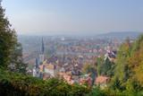 Scenic aerial view of ancient historic touristic capital of Slovenia Ljubljana