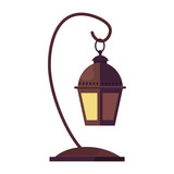 antique lamp on white background - 235055454