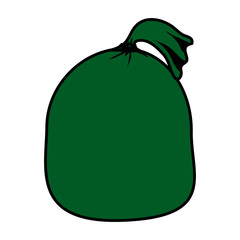 santa claus bag icon