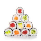Pyramid of sushi hosomaki © Rido