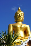 Large golden Buddha for people to come worship.